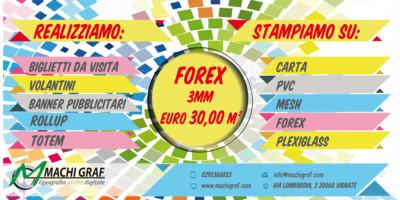offerta stampa forex 3 mm